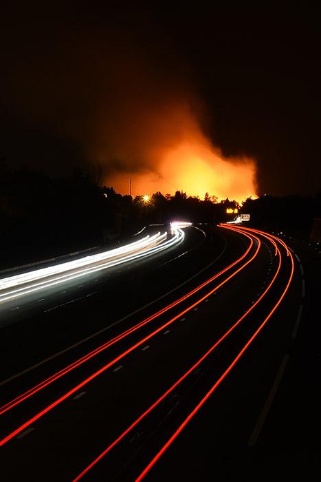 Incendie à Bruguières